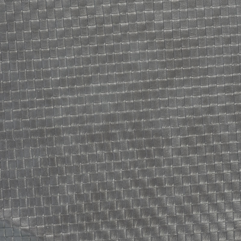 Phantom square leather fabric